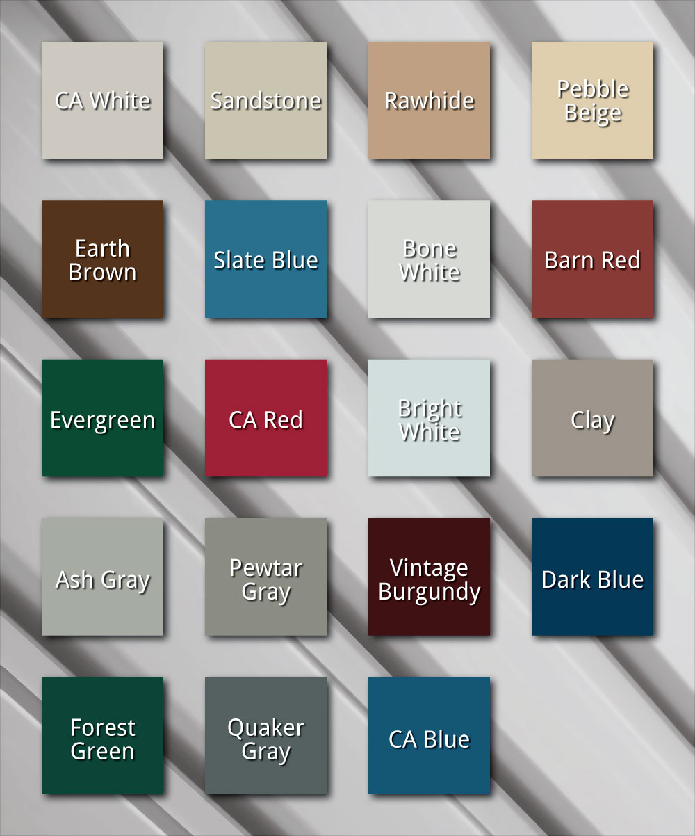 Metal Roofing and Siding Colours